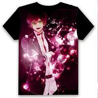 # Game DIABOLIK LOVERS Sakamaki Ayato Pullover T-Shirt Short Sleeve Black Tops