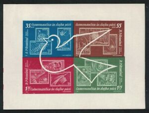Romania Bird Stamps on Stamps Cosmic Flights MS 1962 MNH SG#MS2960 SC#C122a