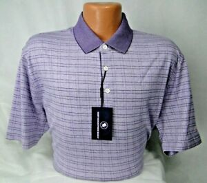 Hart Schaffner Marx S/S Polo Shirt Cotton in Lavender MSRP $98.50 NWT Nice! - XL