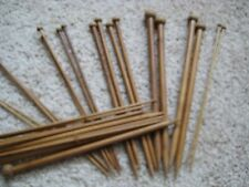 "carbonized 15*2 9""  bamboo Knitting needles single point  US 0 -15  (30 needles)"