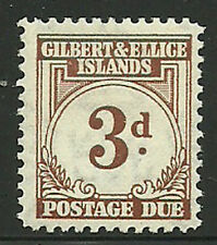 Album Treasures Gilbert & Ellice Is Scott # J3  3p Postage Due Mint H
