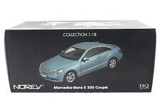 NOREV 2009 MERCEDES BENZ E 500 COUPE METALLIC BLUE 1/18 DIECAST CAR 183542