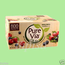 PURE VIA STEVIA 1 BOX x 800 PACKETS NATURAL SWEETENER ZERO CALORIE PUREVIA