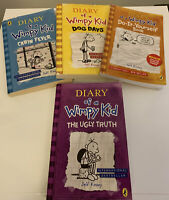 4 x Book Set Reading Bundle Jeff Kinney Diary of a Wimpy Kid Series