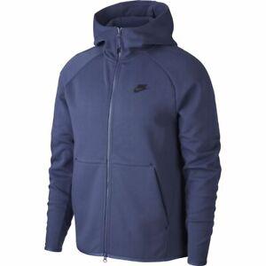 Nike Tech Fleece Hoodie Sweatshirt Jacket Sanded Purple Blue Grey 928483-557 XL