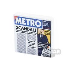 LEGO custom imprimé LEGO tile - 2x2 Metro journal