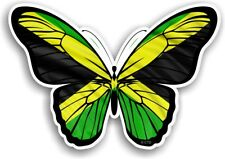 Pretty BUTTERFLY Wings Design With Jamaica Jamaican Flag car sticker 130x90mm