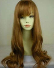 2017 NEW !Women long Curly Wavy Strawberry Ginger Blonde Lady Wigs+wig cap