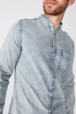 Cotton On Mens Washed Long Sleeve Shirt Shirts  In  Blue