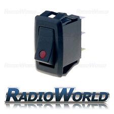 12 V 25 A Rosso Illuminato LED Rocker Interruttore Momentaneo (ON) - OFF ST Dash per Auto