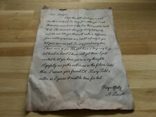 Lincoln Letter The Hateful Eight 1877 Quentin TARANTINO lettre Huit Salopards
