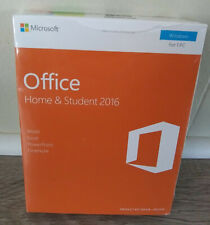 Microsoft Office Home and Student 2016 Eurozone English PC Key Card- No Disc NEW