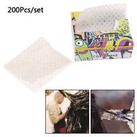 200PCS/Pack Salon Hair Dye Paper Disposable Separating Stain Dye Color Hair CaMW