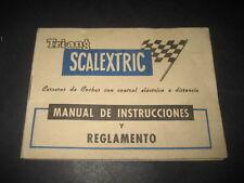TRI-ANG SCALEXTRIC MANUAL DE INSTRUCCIONES Y REGLAMENTO. CARRERAS COCHES