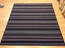 Crucial Trading Biscayne Aubergine BS109 Striped Wool Rug SQUARE 210x235cm -60%