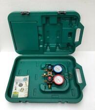 Refco Gylcerin Filled Refrigeration Gauge Manifold Set With Carry Case New 2