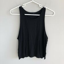 Aeropostale Juniors Size XL Black Ribbed Cropped Tank Top