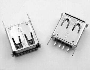 Connecteur à souder USB type A femelle - Female USB 2.0 connector to solder