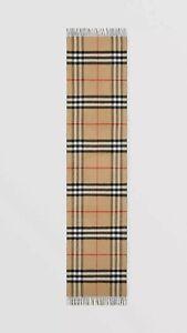 NWT Burberry Cashmere Scarf ITALY. Men MSRP $780.00 Designer London Handmade