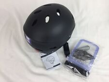 Tontron Water Sports Helmet with Ear Protective Pads, Large, Matte Black, NWT