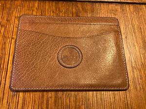 """Rolex Brown/Camel Leather Card Holder Wallet 50.05.34 Vintage 5.5x4"""" Geneva Rare"""