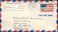 USA 1977 Commercial Airmail Cover to UK #C33098