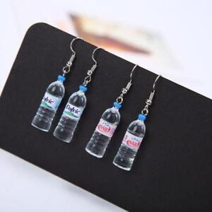 Hotsale Women Water Bottle Novelty Drop Dangle Hook Earrings Jewelry Charms DS