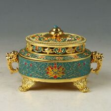 Chinese Cloisonne Hand Carved Exquisite Incense Burner  RJL001+a