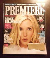 PREMIERE MAGAZINE NOVEMBER 2003 RENEE ZELLWEGER MAGGIE GYLLENHAAL JESSICA LANGE