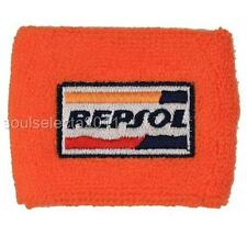 REPSOL HONDA BRAKE RESERVOIR COVER OIL CUP COVER GP SOCK CBR 600 1000 RR ORANGE