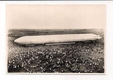 RARE ANTIQUE GRAF ZEPPELIN LZ VI PHOTO in BITTERFELD 28.8.1909 TRAVEL TO BERLIN