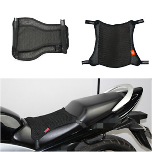 Motorcycle Cushion Seat Cover L Size Cool Mesh Summer Comfort Anti-slip Black