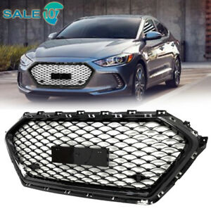For 2017 2018 Hyundai Elantra Sedan Front Bumper Grill Honeycomb Black Grille