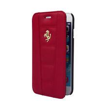 Etui folio Ferrari avec logo or pour iPhone 6 Plus  rouge