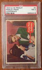 Elvis Presley - 1956 Trading Card # 7 - Conference- PSA 7