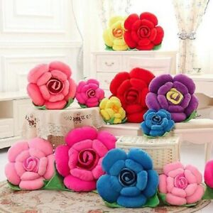 3D Rose Shaped LUXURY Cushion Flower Scatter Pillow Sofa Chair Kids Home Decor
