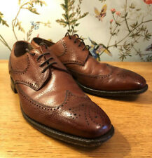 Joseph Cheaney BRISTOL Oxford Brown Leather Brogue Shoes Size 6 Made in England