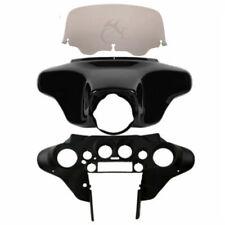 Batwing Inner Outer Fairing Smoke Windshield For Harley Street Glide FLHT 96-13