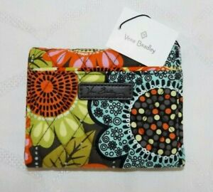 VERA BRADLEY Petite Trifold Wallet with Zipper - Flower Shower - New with Tag