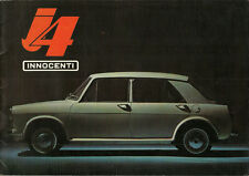 Depliant Brochure Innocenti J4 seconda serie 1965 Italiano ORIGINALE