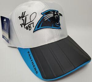 Carolina Panthers Reebok On Field Hat Cap Muhsin Muhammad Auto #87 NWT & Defects