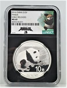 2016 China 30g 999 Silver Kung Fu 3 Panda NGC MS 69 Retro Early Releases C45