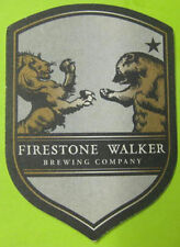 FIRESTONE WALKER BREWING, NOT PERFECT Beer COASTER Mat w/ Lion & BEAR CALIFORNIA