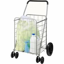 Honey-Can-Do Dual Wheel Utility Cart, CRT-01640, Gray W