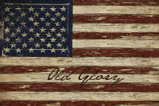 CANVAS Old Glory 18x12 Gallery Wrap Giclee Edition by Beth Albert
