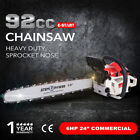 92cc Petrol Commercial Chainsaw 24inch Bar Pruning Chain Saw ATEM POWER