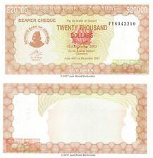 Zimbabue 20000 dólares 2003 prefijo 'Fy' P-23 Billetes Unc