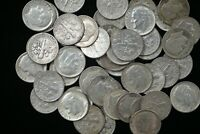 1956-1964 ROOSEVELT SILVER DIMES - Roll of 50 -  FREE SHIPPING!   M-1754