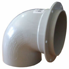 Rain Harvesting Water Tank Overflow Pipe Flanged Bend 90mm PVC