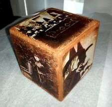 Primitive Halloween Wooden Shelf Sitter Block Witches Grungy Shabby Vintage